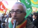 Manifestation Retraites 12/10 Bordeaux avec Europe Ecologie