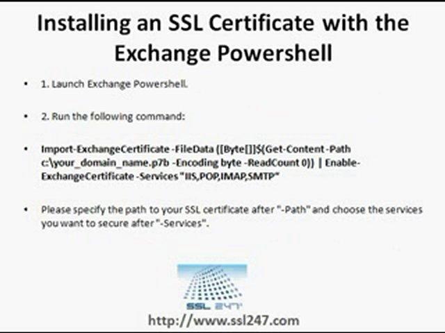SSL Certs – Installing on Microsoft Exchange Server 2010