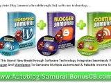Auto Blog Samurai Software Suite 3 in 1 Niche Blog Creation