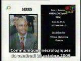 Communiqués nécrologiques du 29-10-10