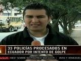 Tres civiles y 33 policías condenados por intento de golpe en Ecuador