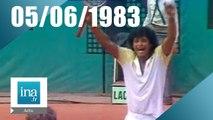 20h Antenne 2 du 05 juin 1983 - Noah remporte Roland Garros | Archive INA