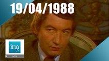 20h Antenne 2 du 19 avril 1988 - Mort de Pierre Desproges - Archive INA
