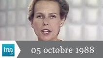 20h Antenne 2 du 05 octobre 1988 - inondations à Nîmes - Archive INA