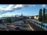Stockholm, capitale de la Suède, tranquille, à vélo