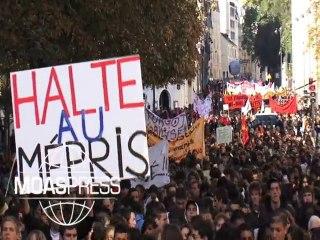 RETRAITES  : MOBILISATION LYCEENS A PARIS