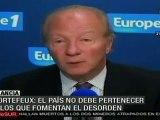 Francia fuerza reabasto de combustible; nuevos disturbios