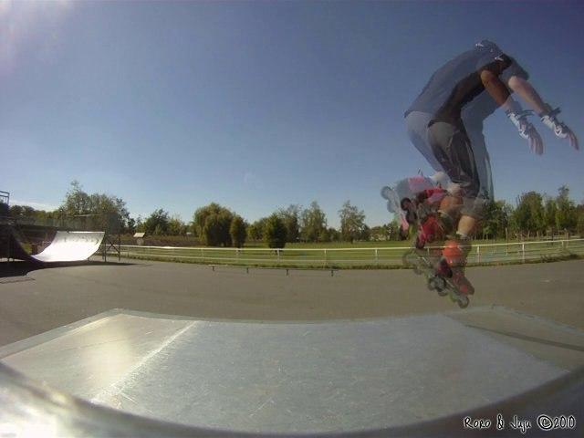 Roro et Juju, roller au skatepark de Chateauroux