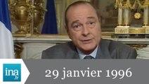 20h France 2 du 29 janvier 1996 - Arrêt des essais nucléaires - Archive INA