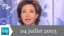 20h France 2 du 4 Juillet 2003 - Arrestation d'Yvan Colonna - Archive INA