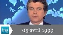 20h france 2 du 05 avril 1999 - les réfugiés du Kosovo - Archive INA