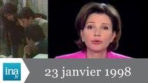 20h France 2 du 23 janvier 1998 - Avalanche meurtrière dans les Hautes Alpes - Achive INA