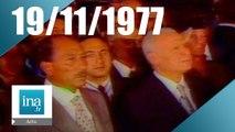 20h Antenne 2 du 19 novembre 1977 - Anouar el-Sadate en Israël | Archive INA