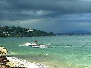 Kite Surf - Cannes - Vent fort - Palm Beach - La Croisette