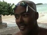 Éric Nage avec le Barracuda Géant Plage Gosier Guadeloupe