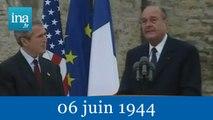 60ème anniversaire du débarquement à Colleville - Archive INA