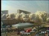 La Courneuve : implosion de la barre DEBUSSY à la cité des 4000