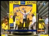 [Tour de France, étape de l'Alpes d'Huez, victoire de Sastre]