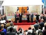 Chili: les 33 mineurs reçus au Palais présidentiel à Santiago