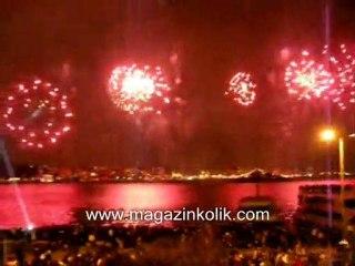 29 Ekim Cumhuriyet Bayrami Boğaziçi havaifişek gösterisi