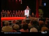 Laurent Fabius en soutien à la campagne de Michel Sapin en région Centre