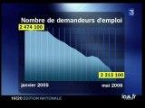 [Plateau brève : les chiffres du chômage pour le mois de mai 2006]