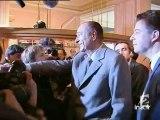 Jacques Chirac à son QG de campagne