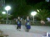 Ophélie et Stiven qui font le sky rider