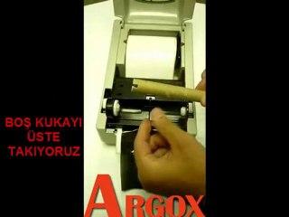 Argox Os Serisi etiket ve ribbon takılması