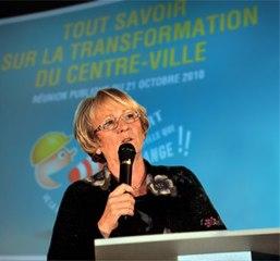 Ouverture de la réunion publique par Geneviève Gaillard
