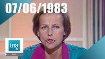 20h Antenne 2 du 07 juin 1983 - Denise Glaser est morte | Archive INA