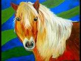 Peintures de Nathalie Souin:Animaux :chevaux,chiens et chats