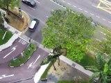 La vue depuis notre appart hôtel