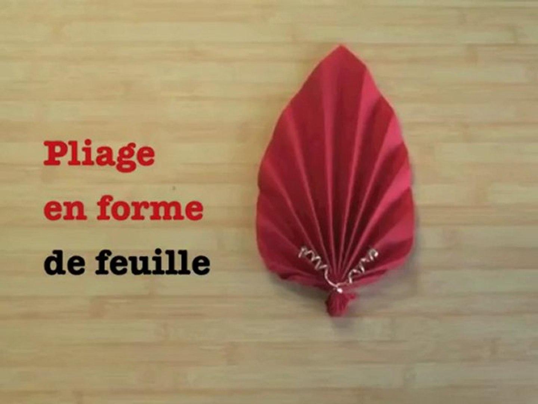 Pliage De Serviette Original pliage de serviette en feuille / en fleur