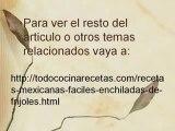 Recetas Mexicanas Faciles – Enchiladas de Frijoles
