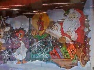 decoration vitrines de noel- vitrines de noel - decoration salle noel restaurant - jour de l'an