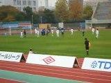 JFL後期14節 ブラウブリッツ秋田vs佐川印刷SC 横山の同点ゴール