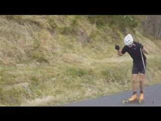 rollerski: montee du col de la croix morand