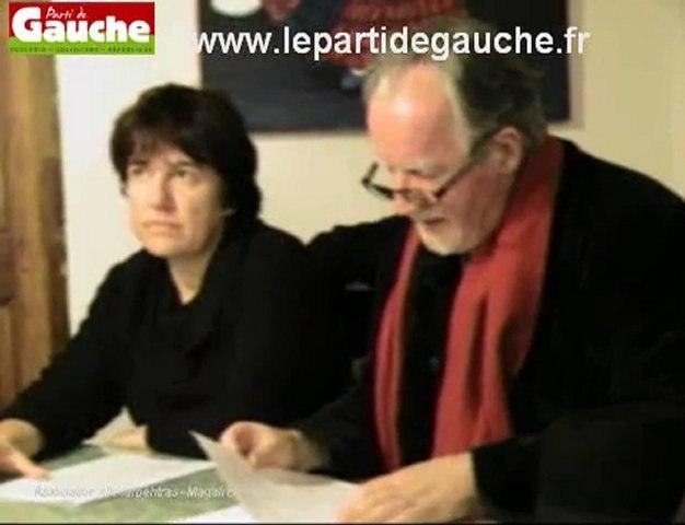 Démission du PS et adhésion au Parti de Gauche de deux élus