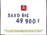 Publicité Saxo BIC Citroën 1999