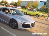 Silver Audi R8 V10 5.2 L FSI - Acceleration, Sound, Launch