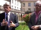 VESOUL : VISITE DU PRESIDENT DE L'UNIVERSITE DE FRANCHE-COMTE SUR LE SITE DE L'ANCIEN HOPITAL