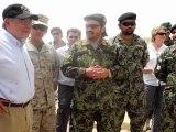 US Defense Secretary visits mine-sweeping Afghan soldiers