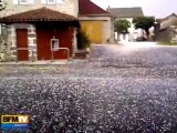 Des tempêtes de grêle vues par nos témoins BFMTV