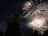 Brive le 13 juillet 2011. Retraite aux flambeaux et feu d'artifice.