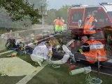 Tournus, 15 juillet 2011, autoroute A6, 5 blessés dont deux graves