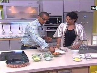 Recette Basboussa au orange et Cake au Semoule