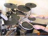 """One"" (Lars Ulrich/Metallica) Verse Drum Beat - Free Drum Lesson"