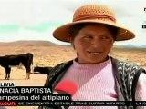 Intensa sequía en el altiplano de Bolivia