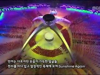 Kim Hyun Joong sings at Asian Games opening ceremony